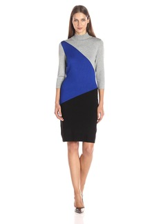 Calvin Klein Women's Color-Block Sweater Dress  L