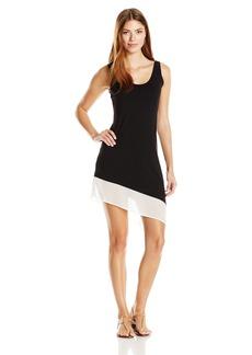 Calvin Klein Women's Colorblock Asymmetrical Dress Cover up  L/XL