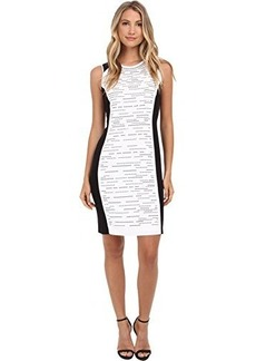 Calvin Klein Women's Colorblock Dress with Stones