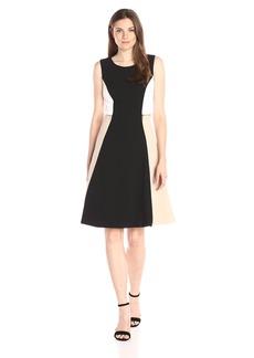 Calvin Klein Women's Colorblock Flare Dress