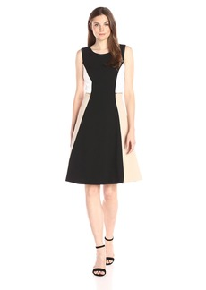 Calvin Klein Women's Colorblock Flare Dress