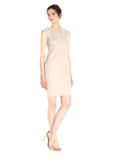 Calvin Klein Women's Compression Fabric Cap Sleeve Sheath Dress