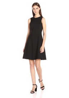 Calvin Klein Women's Compression Fabric Fit and Flare Dress