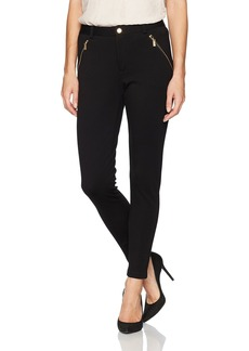 Calvin Klein Women's Compression Pant with Zips  L