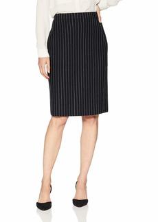Calvin Klein Women's Contrast Stitch Sweater Skirt Multi/Black S
