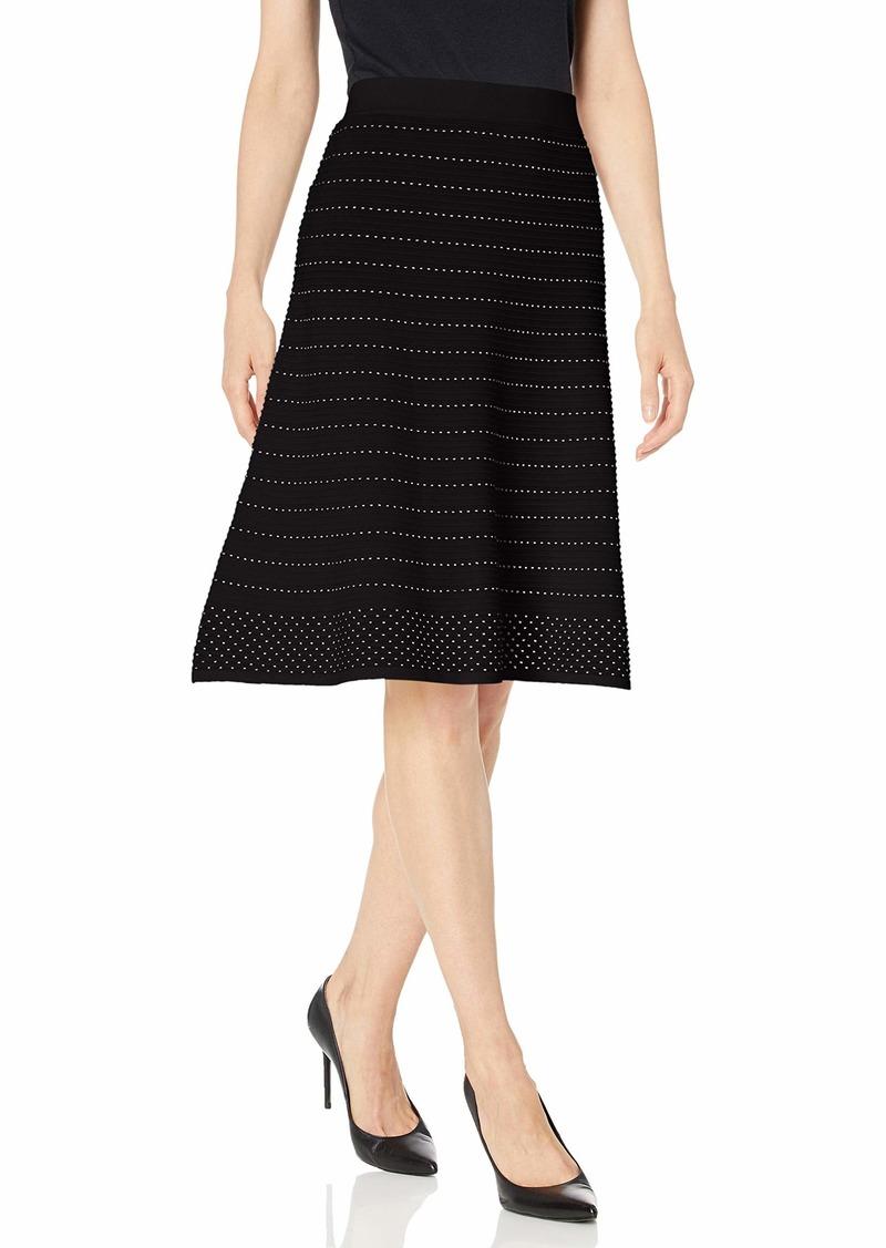 Calvin Klein Women's Contrast Stitching Skirt