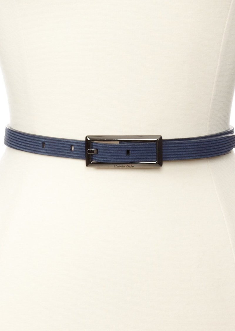 Calvin Klein Women's Corduroy Suede Belt
