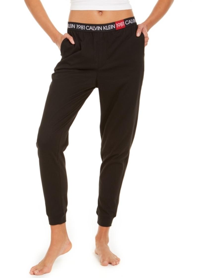 Calvin Klein Women's Cotton 1981 Bold Lounge Jogger Pants