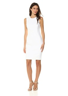 Calvin Klein Women's Cotton Blend Sleeveless Princess Seam Sheath Dress