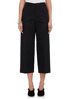 Calvin Klein Women's Cotton-Blend Twill Straight-Leg Pants