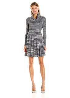 Calvin Klein Women's Cowl Neck Fit and Flare Dress  L