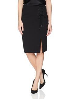 Calvin Klein Women's Crepe Skirt with Lacing