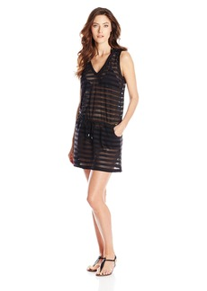 Calvin Klein Women's Crochet Drawstring Tunic Cover Up
