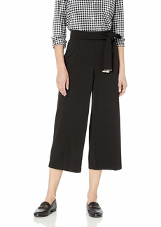 Calvin Klein Women's Culotte Pant with Tie Belt