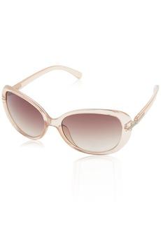 Calvin Klein Women's CWR674S Oval Sunglasses  58 mm