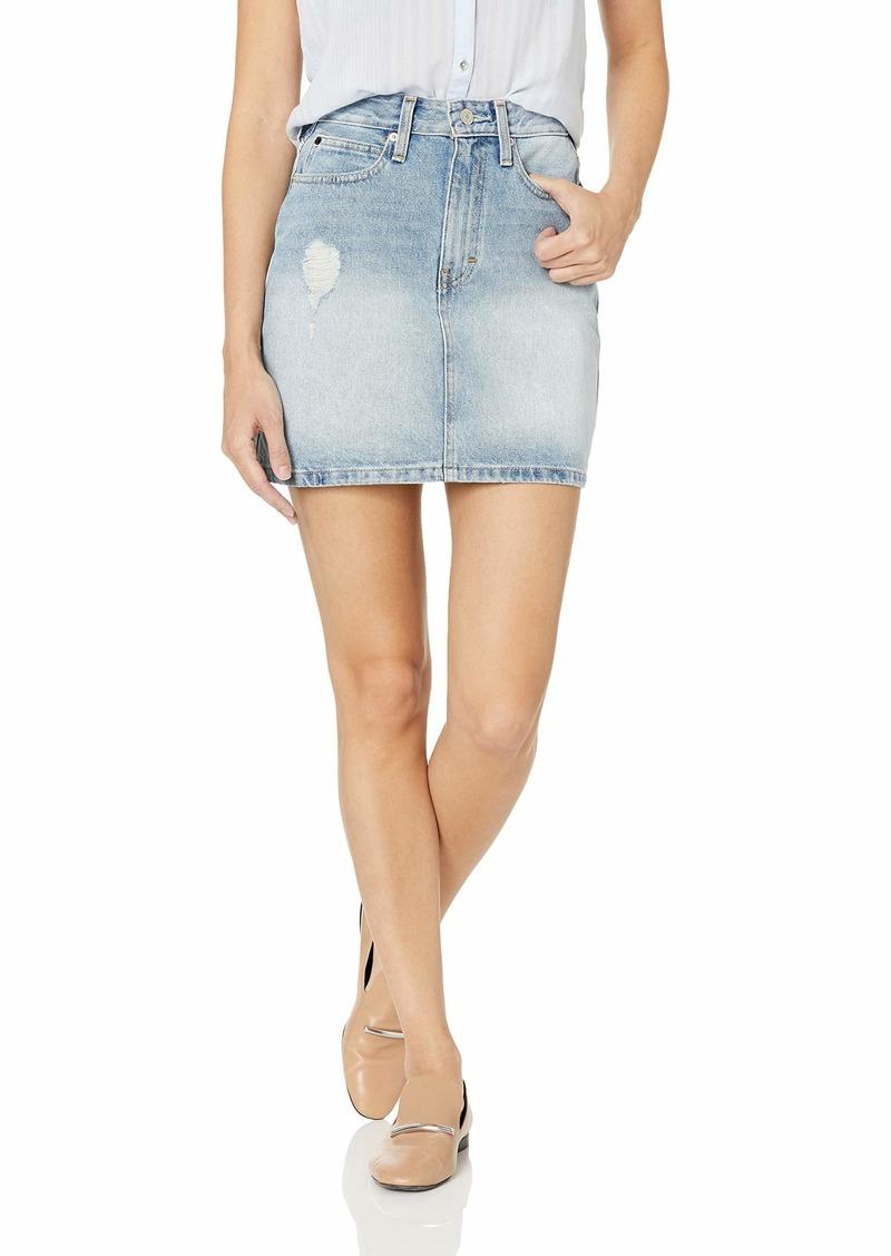 Calvin Klein Women's Denim Mini Jean Skirt Key west
