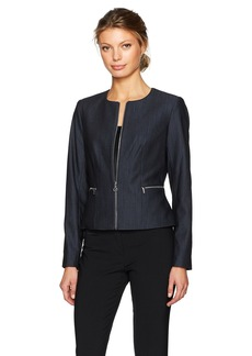 Calvin Klein Women's Denim Zipper Front Jacket