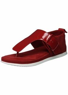 Calvin Klein Women's Dionay Sandal Crimson red  Medium US