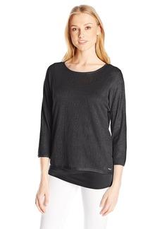 Calvin Klein Women's Dolman Sweater W/ Underpinning  M
