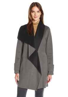 Calvin Klein Women's Double Face Wool Coat  L