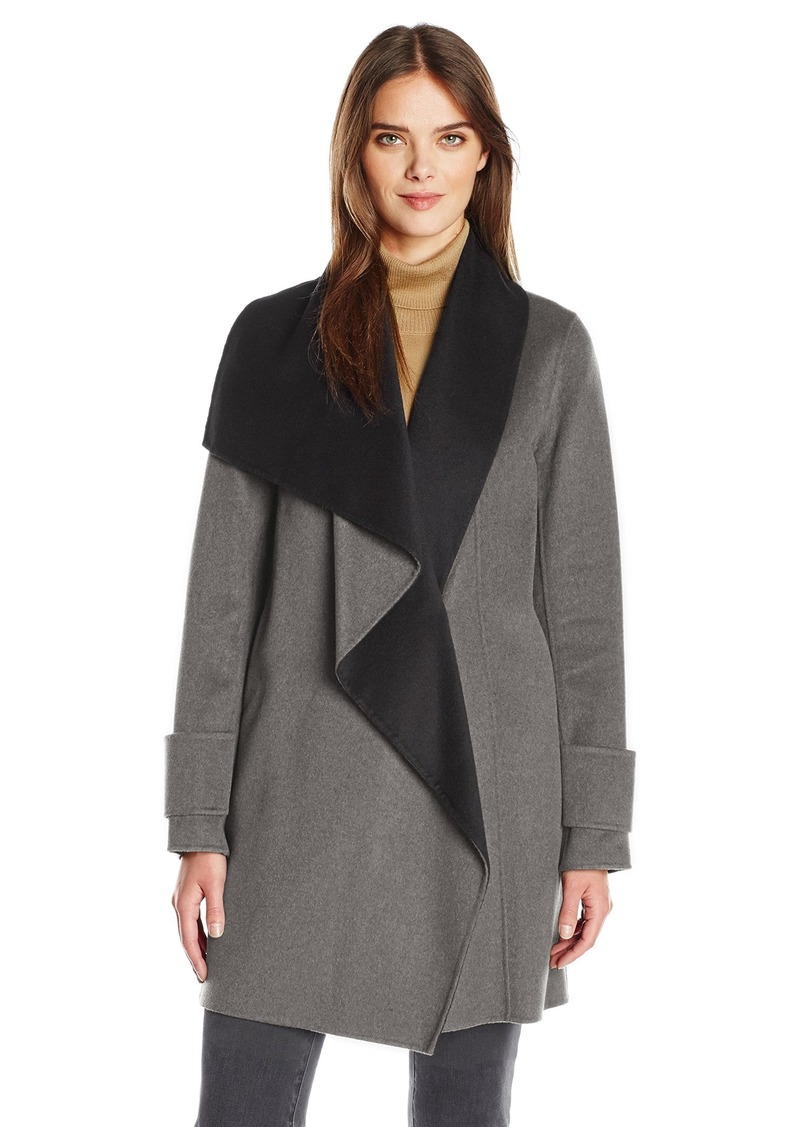Calvin Klein Women's Double Face Wool Coat  M