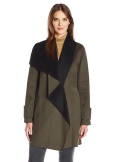 Calvin Klein Women's Double Face Wool Coat  M