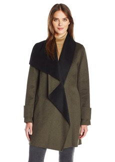 Calvin Klein Women's Double Face Wool Coat  S