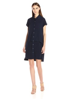 Calvin Klein Women's Double Layer Chiffon T-Shirt Dress  M
