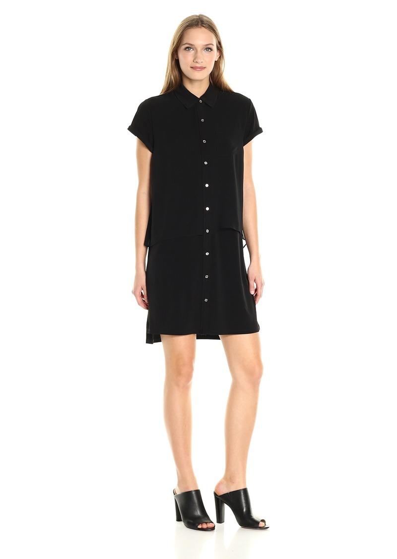 Calvin Klein Women's Double Layer Chiffon T-Shirt Dress  XS