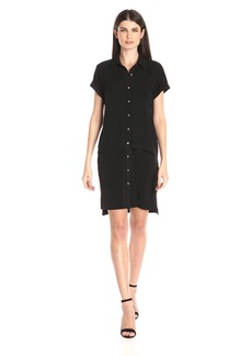 Calvin Klein Women's Double Layer Chiffon T-Shirt Dress