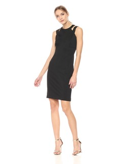 Calvin Klein Women's Double Strapped Sheath Dress