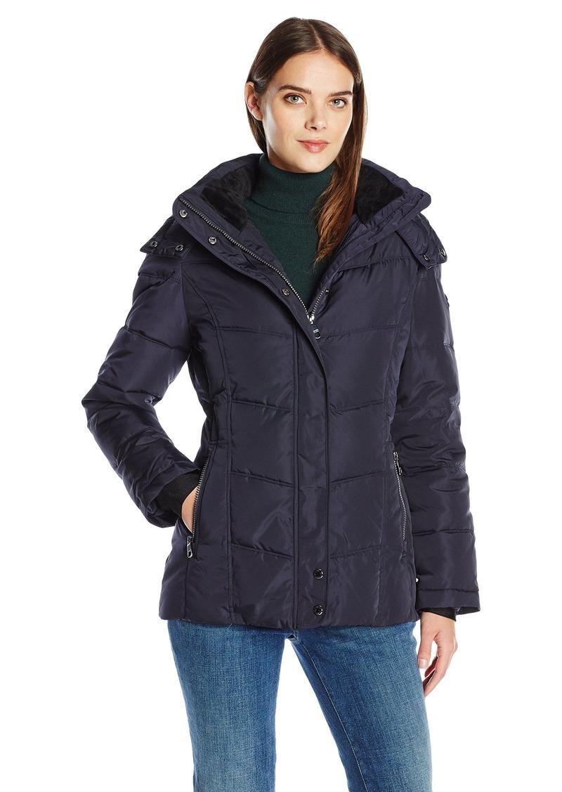 Calvin Klein Women's Down Puffer Short Coat with Hood  S