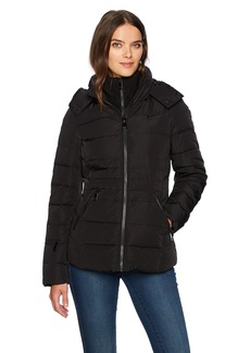 Calvin Klein Women's Down Short Puffer Coat With Hood  XL
