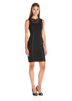 Calvin Klein Women's Dress W/ Lace Panel