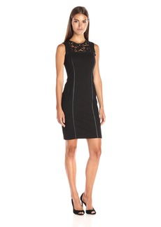 Calvin Klein Women's Dress W/ Lace Panel