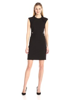 Calvin Klein Women's Dress with Faux Suede Side Panel