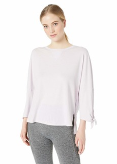 Calvin Klein Women's Dropped Shoulder Tie Sleeve Tee