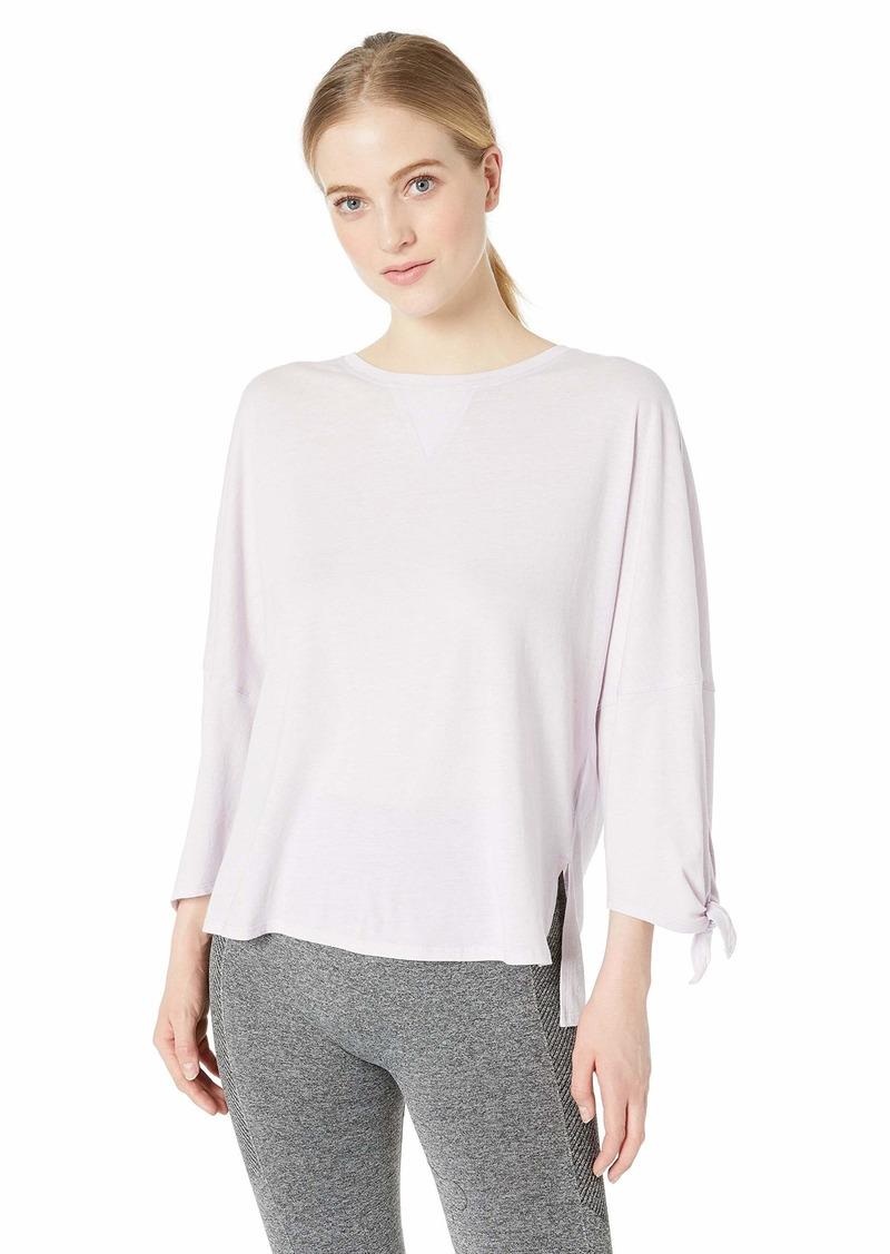 Calvin Klein Women's Dropped Shoulder Tie Sleeve Tee