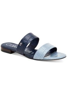Calvin Klein Women's Elliana Double-Band Flat Sandals Women's Shoes