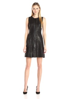 Calvin Klein Women's Embossed A-Line Dress