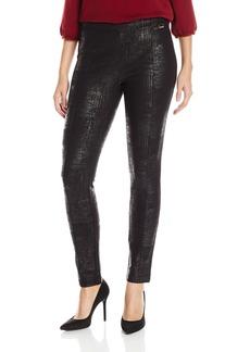 Calvin Klein Women's Embossed Ponte Legging  X-Large