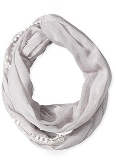 Calvin Klein Women's Embroidered Infinity Scarf Grey