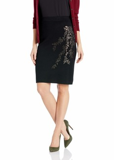Calvin Klein Women's Embroidered Sweater Skirt  S