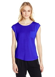 Calvin Klein Women's One Pocket Tee  Small