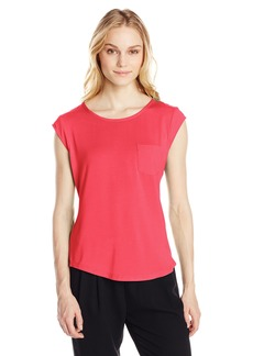 Calvin Klein Women's Essential One Pocket Tee Shirt