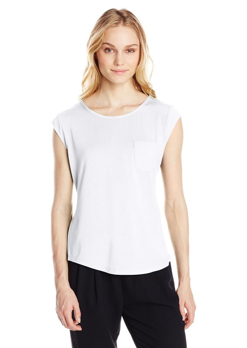 Calvin klein calvin klein women 39 s essential one pocket tee for Pocket tee shirts for womens