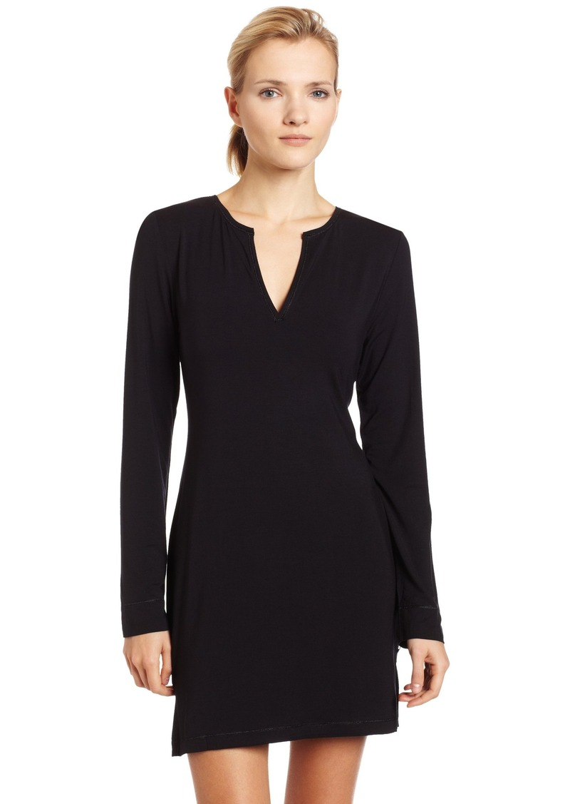 Calvin Klein Calvin Klein Women s Essentials Long Sleeve Night Dress ... ae53cf9094