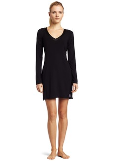 Calvin Klein Womens Essentials With Satin Long Sleeve Nightdress