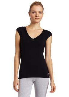 Calvin Klein Womens Essentials With Satin Short Sleeve Dolman Pajama Top