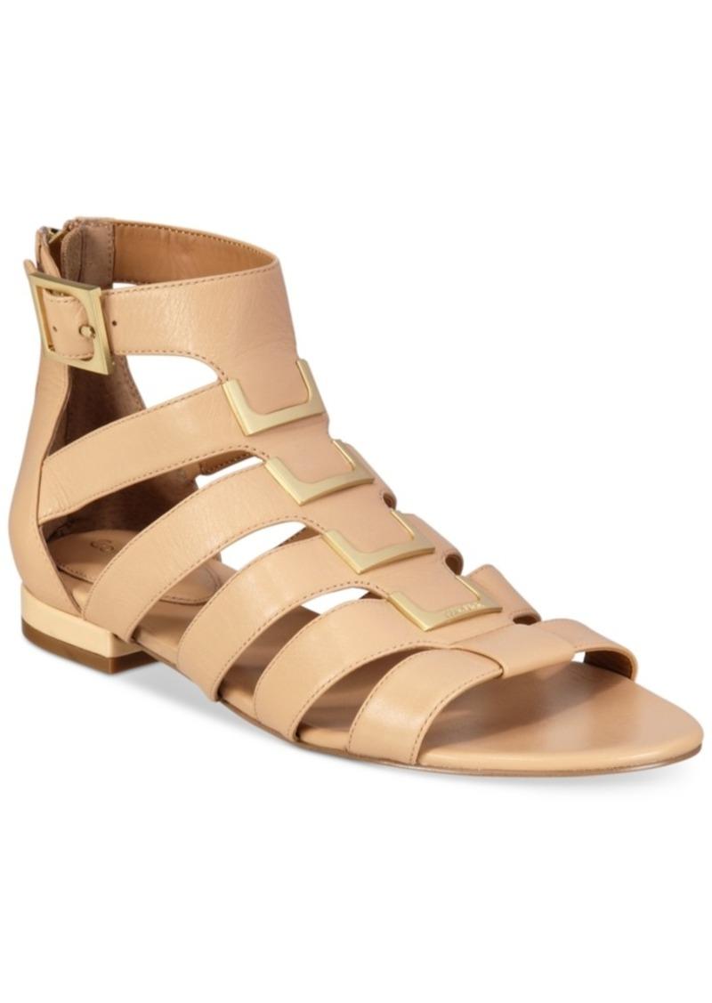 05bd0a2b0fbf Calvin Klein Calvin Klein Women s Estes Gladiator Flat Sandals ...